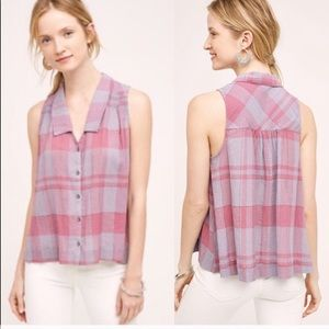 Anthropologie Holding Horses Plaid top